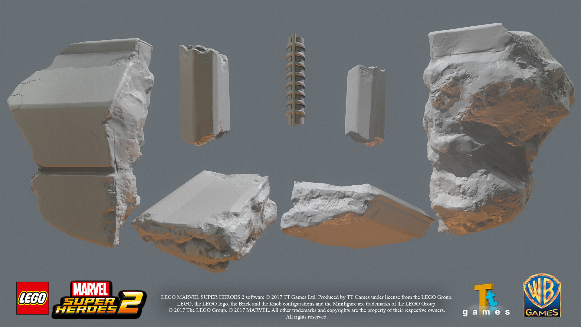 High res models for debris
