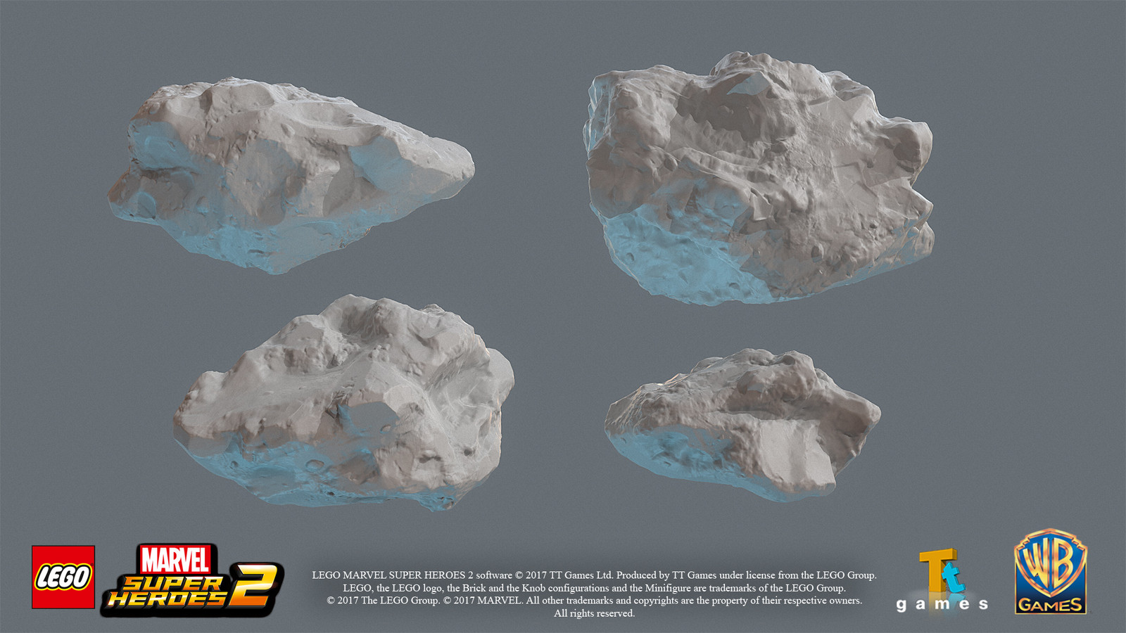 High res rock sculpts