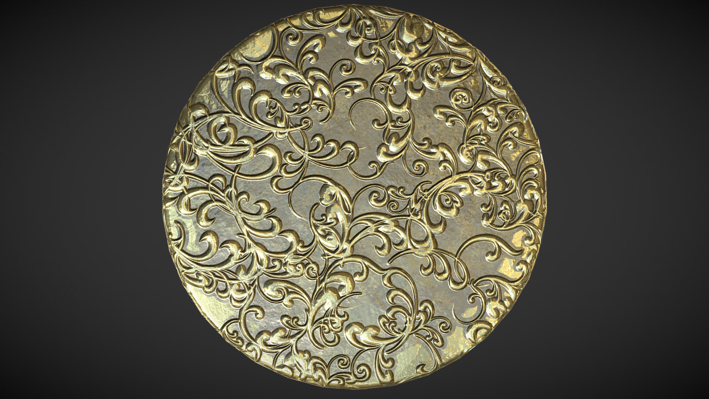 Baroque Pattern and Gold Leaf Substances