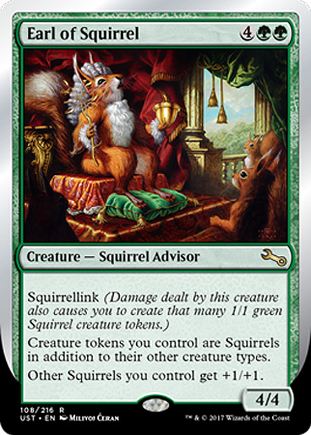 """Earl the Squirrel"" by Milivoj Ćeran , mtg, Unstable set"