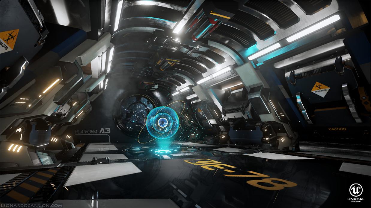 Modular space station environment. UE4/ 3ds Max/ Substance Designer