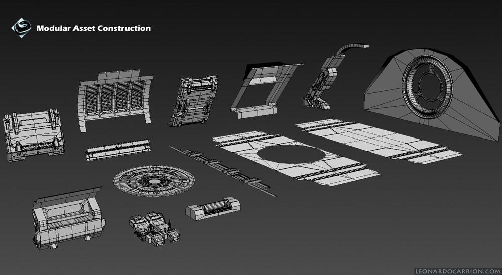 Modular asset construction 3ds Max
