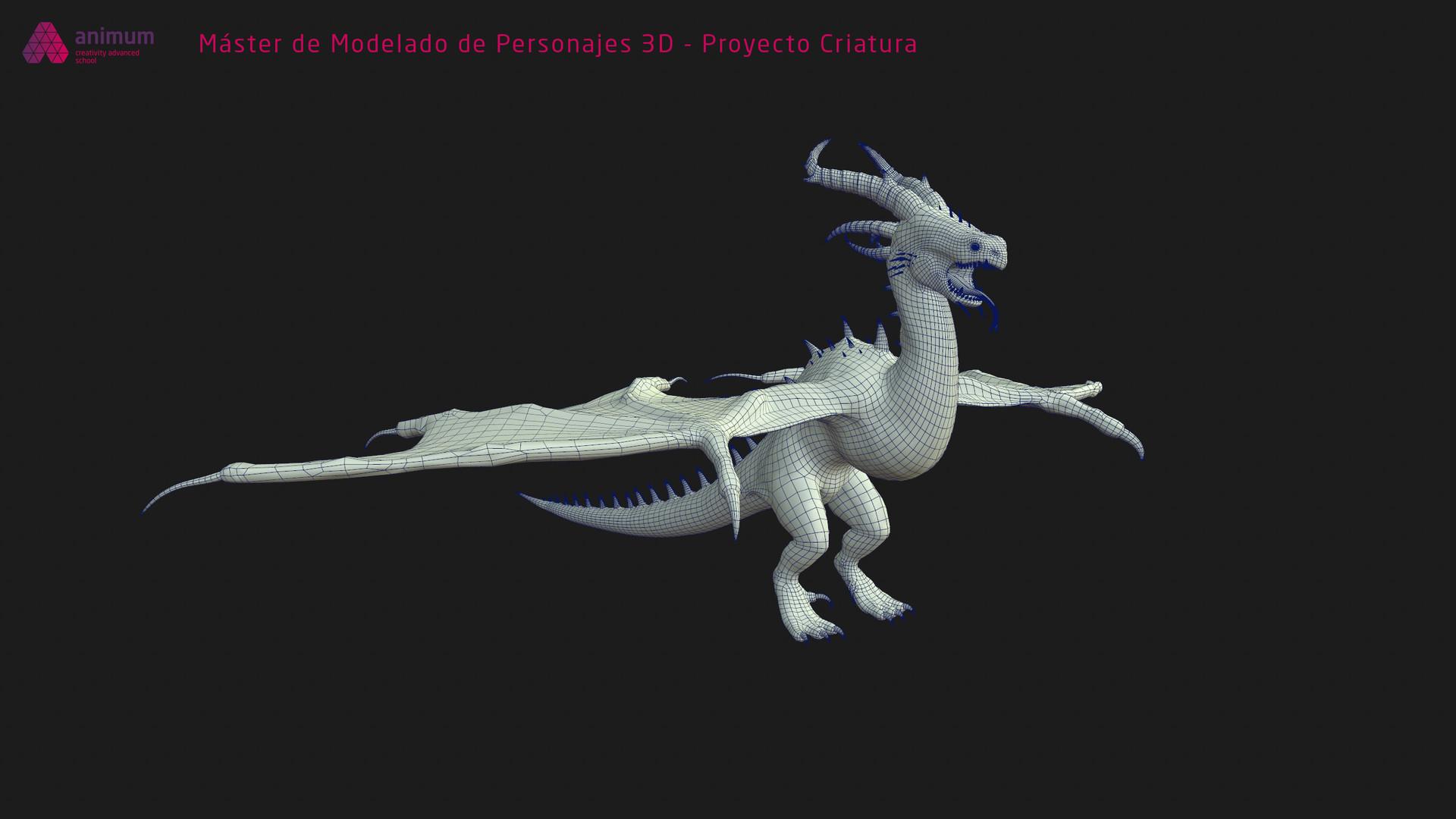 Miquel purra modelado 3d criatura miquel purra front wire