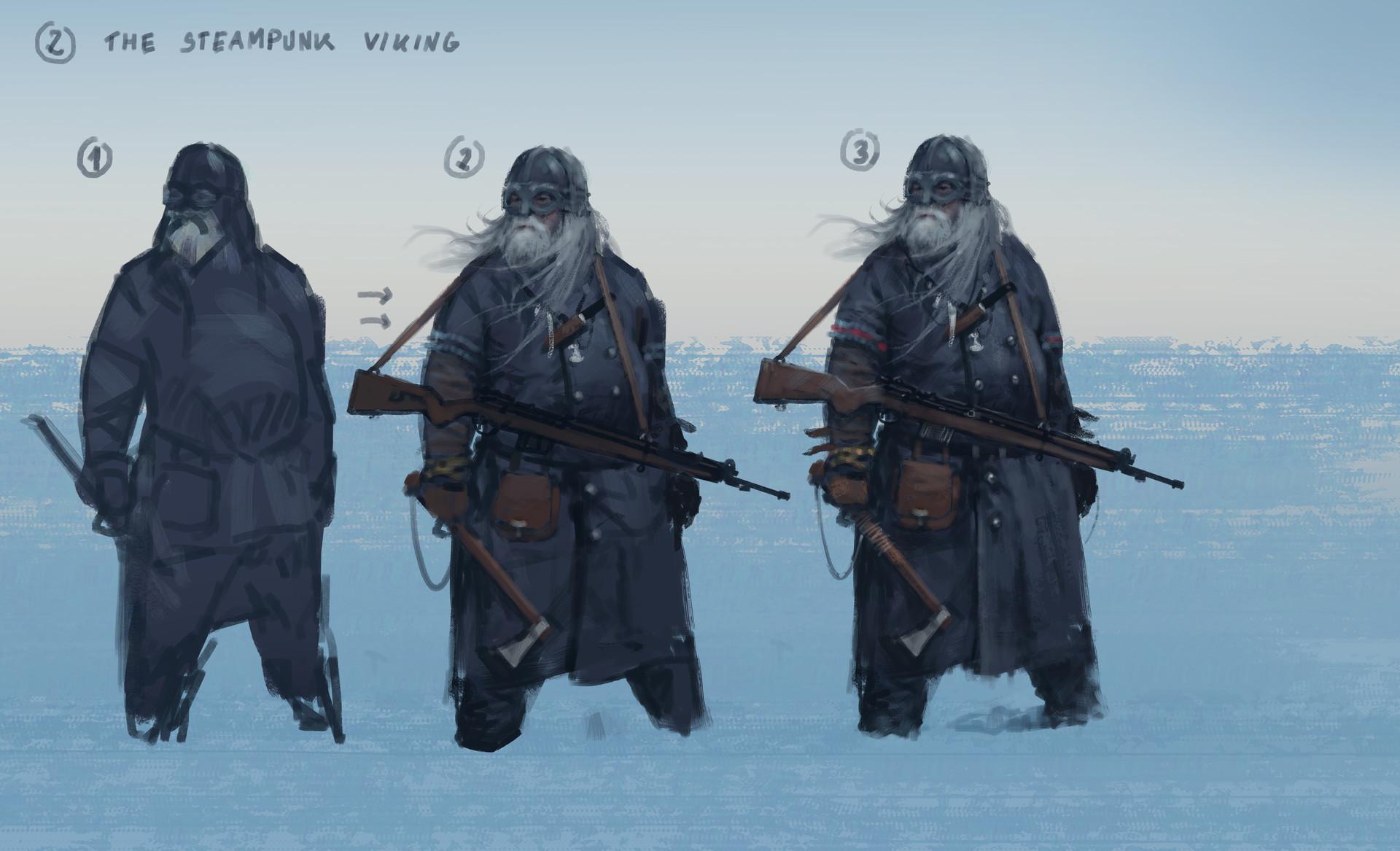Jakub rozalski steampunk viking02