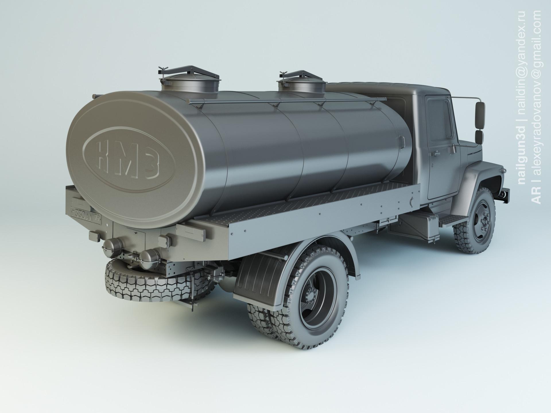 Nail khusnutdinov alg 013 002 gaz 3307 milk modelling 1