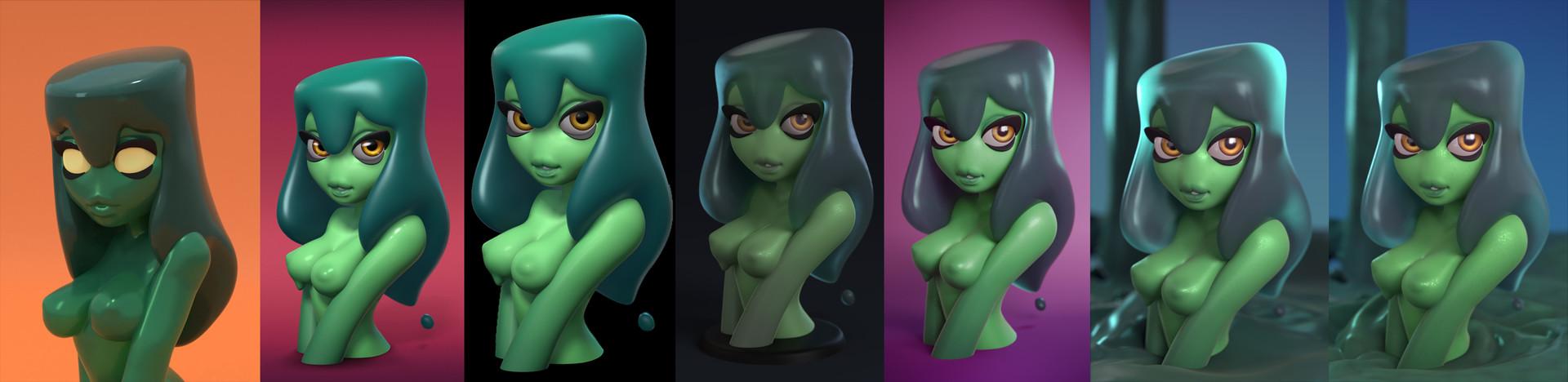 The paladin slime girl