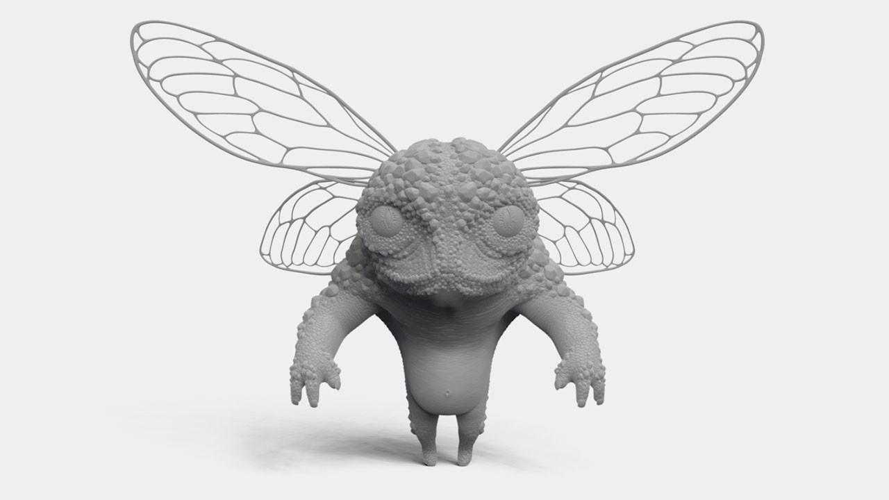 little bug creature (ZBrush Single BPR)