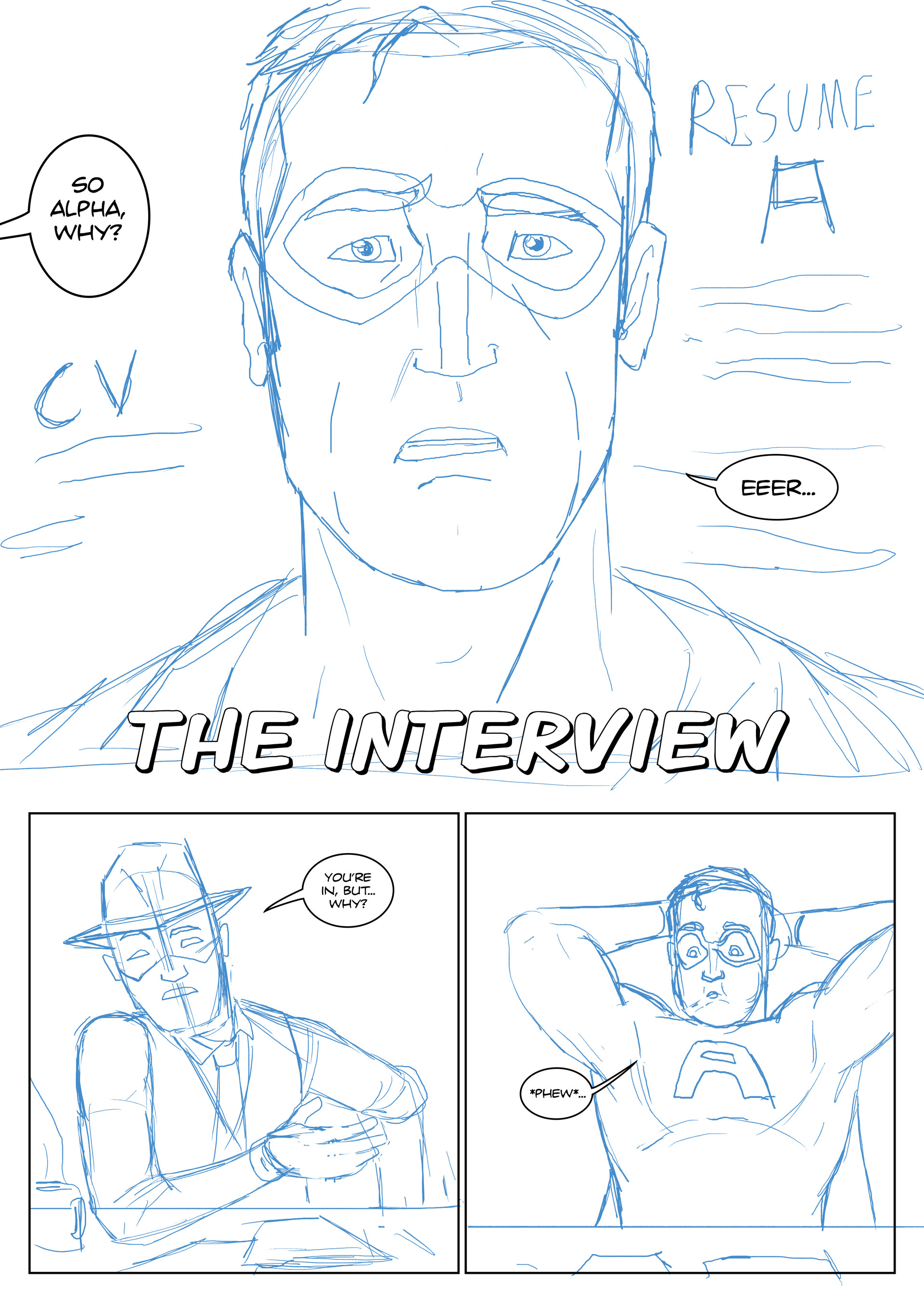 Elliot balson page 1 roughs