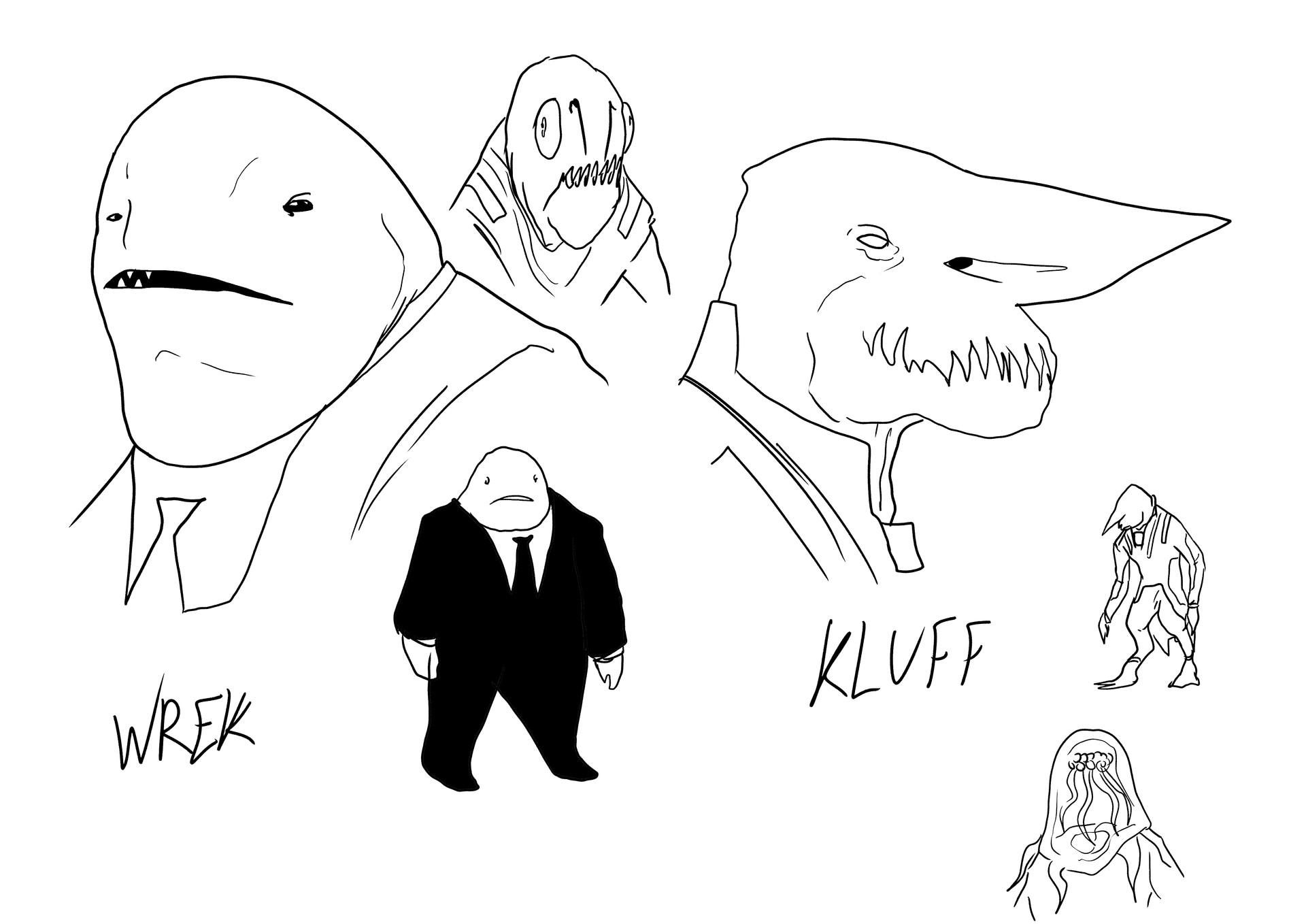 Character Designs - Aliens
