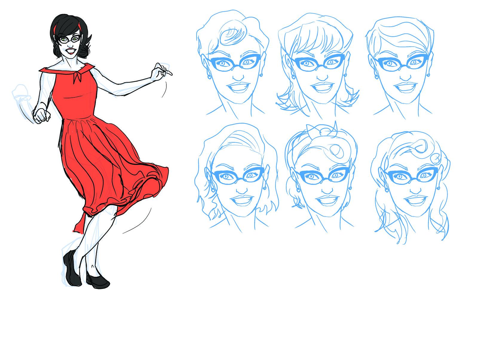 Kate Concept Art - Set 1