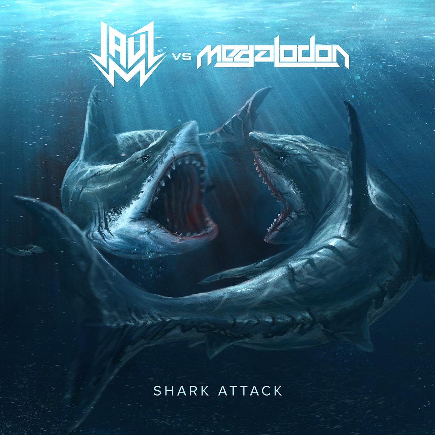 Eric hallquist jauz vs megalodon shark attack art 1400px