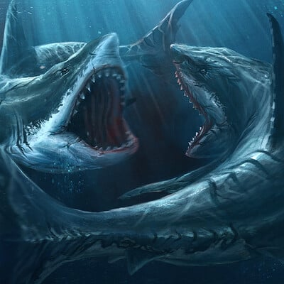 Eric hallquist jauz vs megalodon shark attack art wtext 2560px