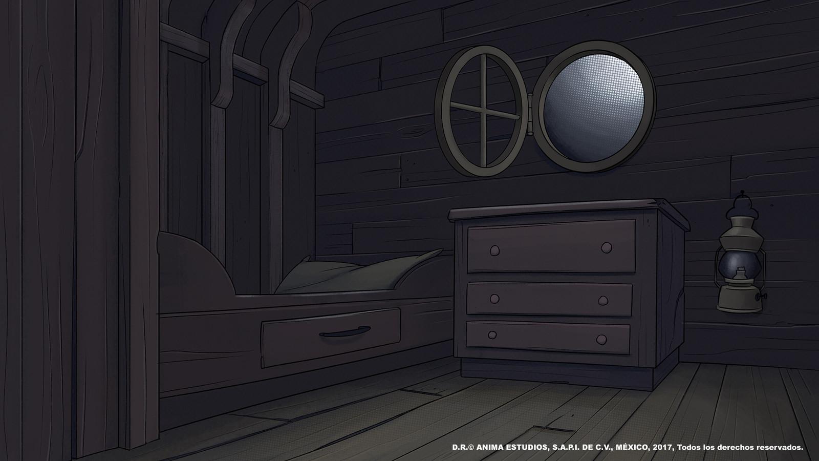 Leo's bed.