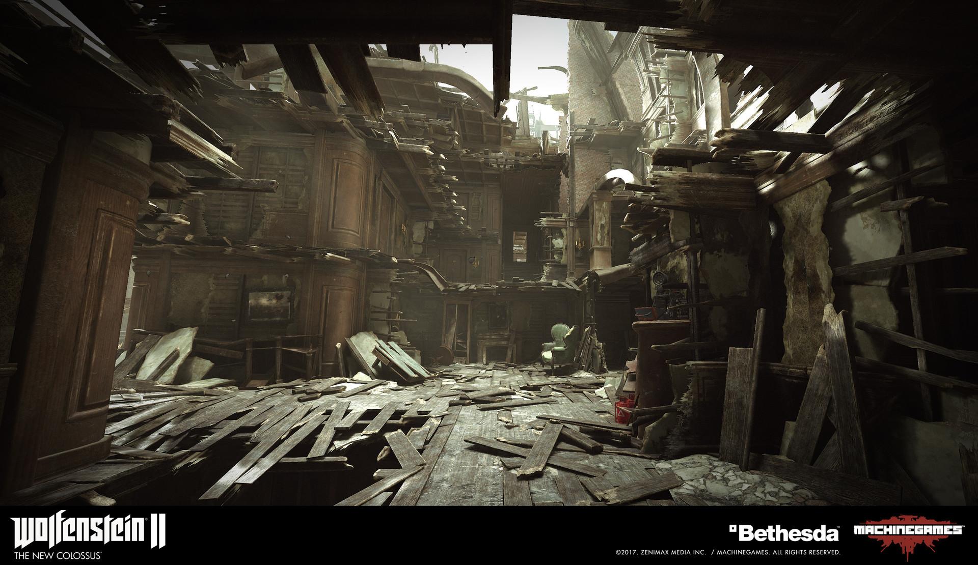 Wolfenstein 2 Subway Map.Artstation Wolfenstein Ii The New Colossus Ivan Martinez