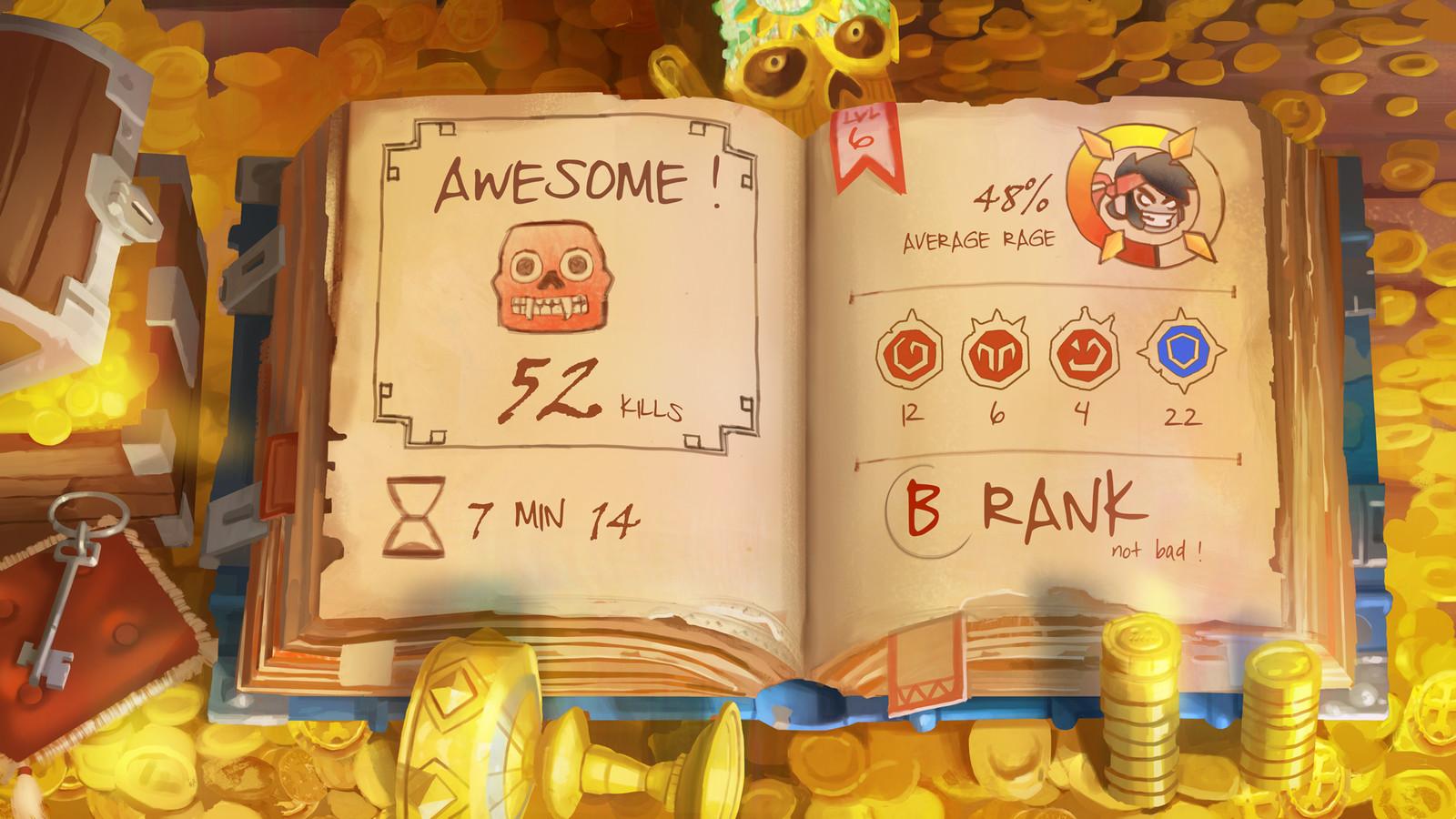 Adventure Mobile Game - Score Screen UI