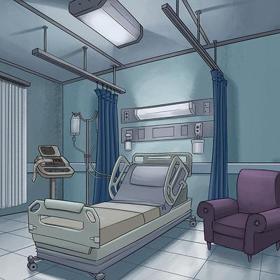 Mauricio morali ly bg modernhospitalroomintnight v001