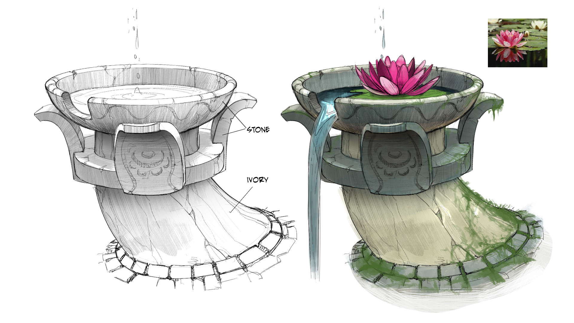 Jungle Ruins fountain detail - Temple Run 2
