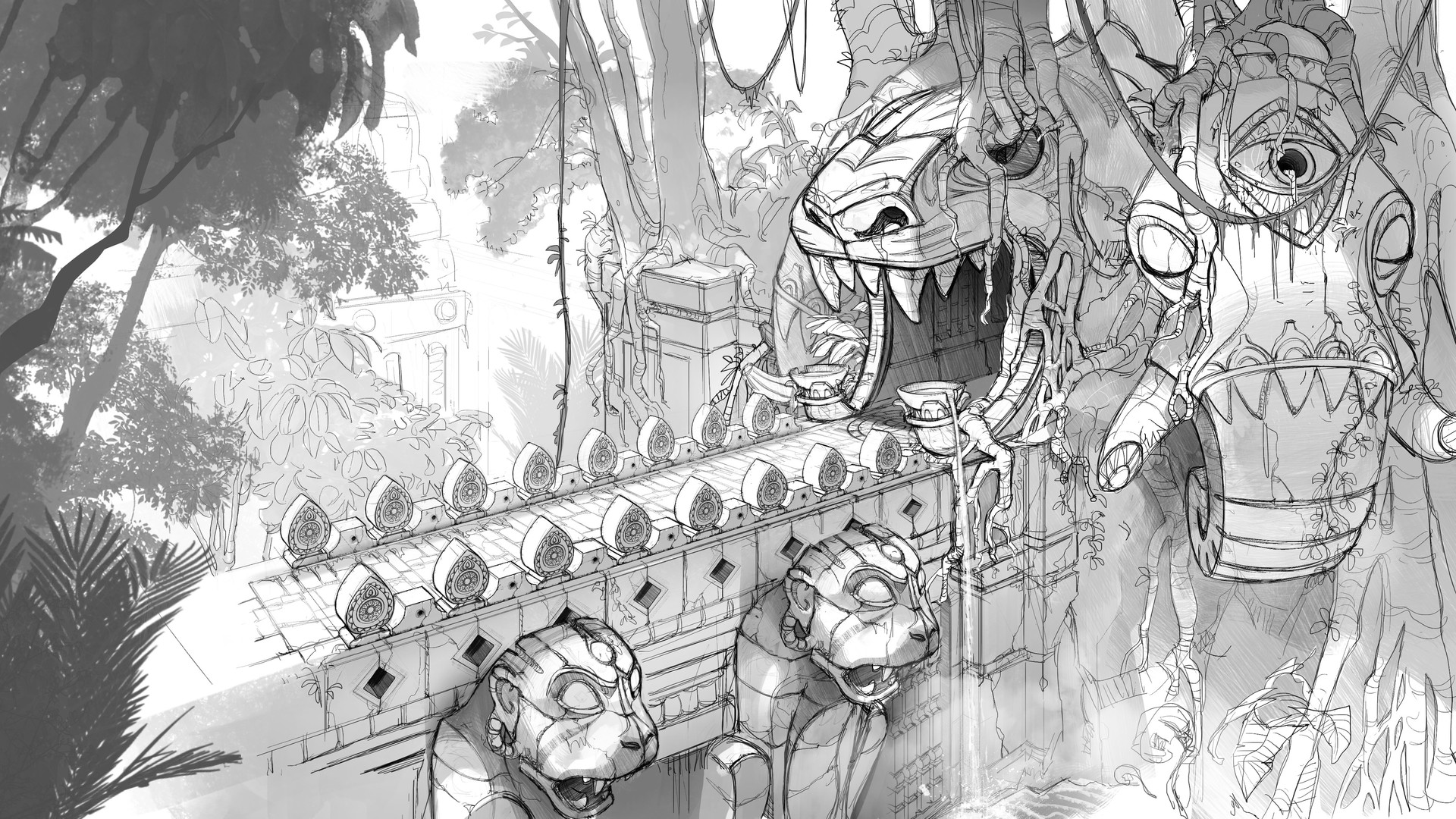 Jungle Ruins sketch - Temple Run 2