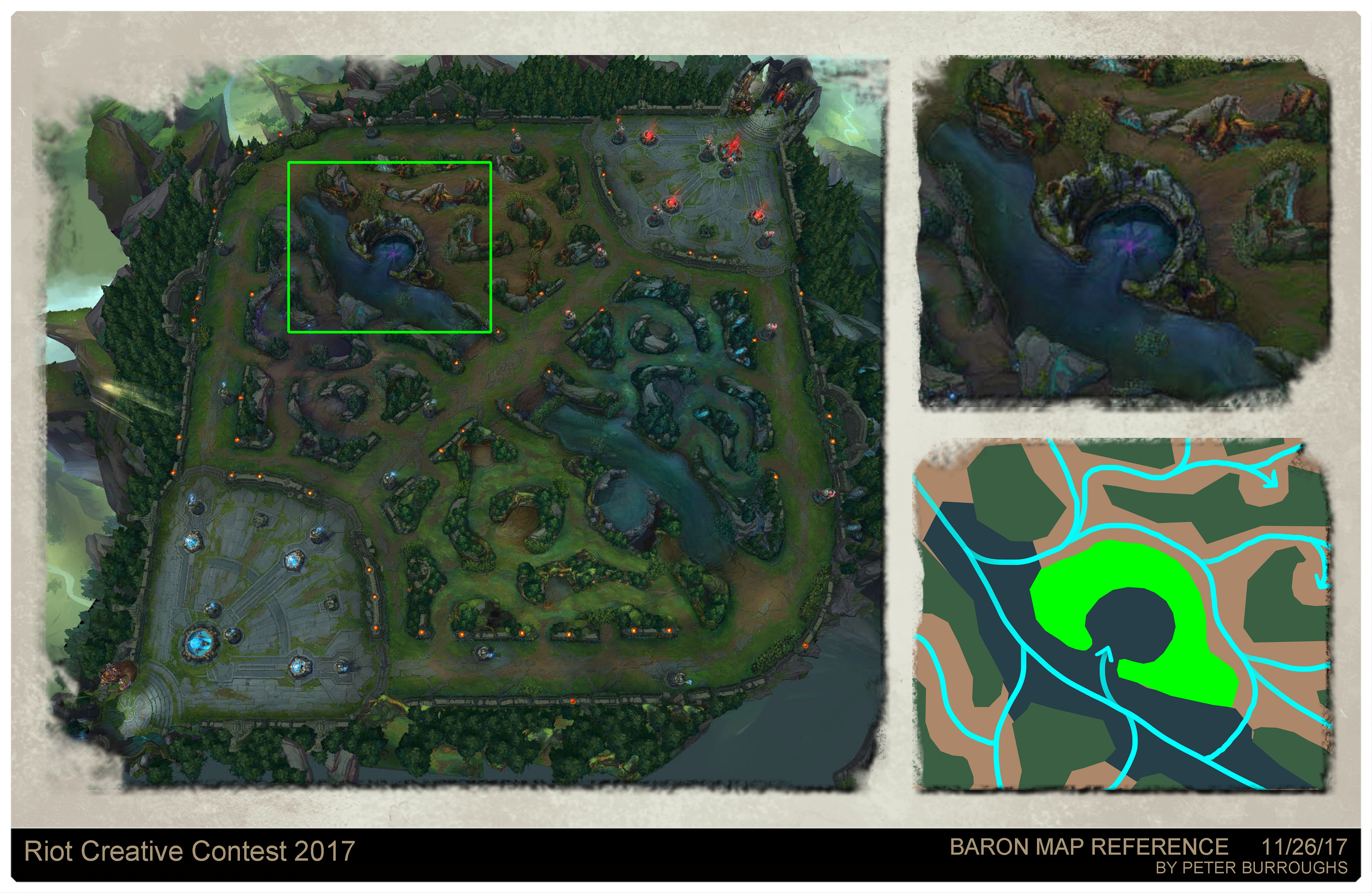View of Summoner's Rift from Riot Game's League of Legends