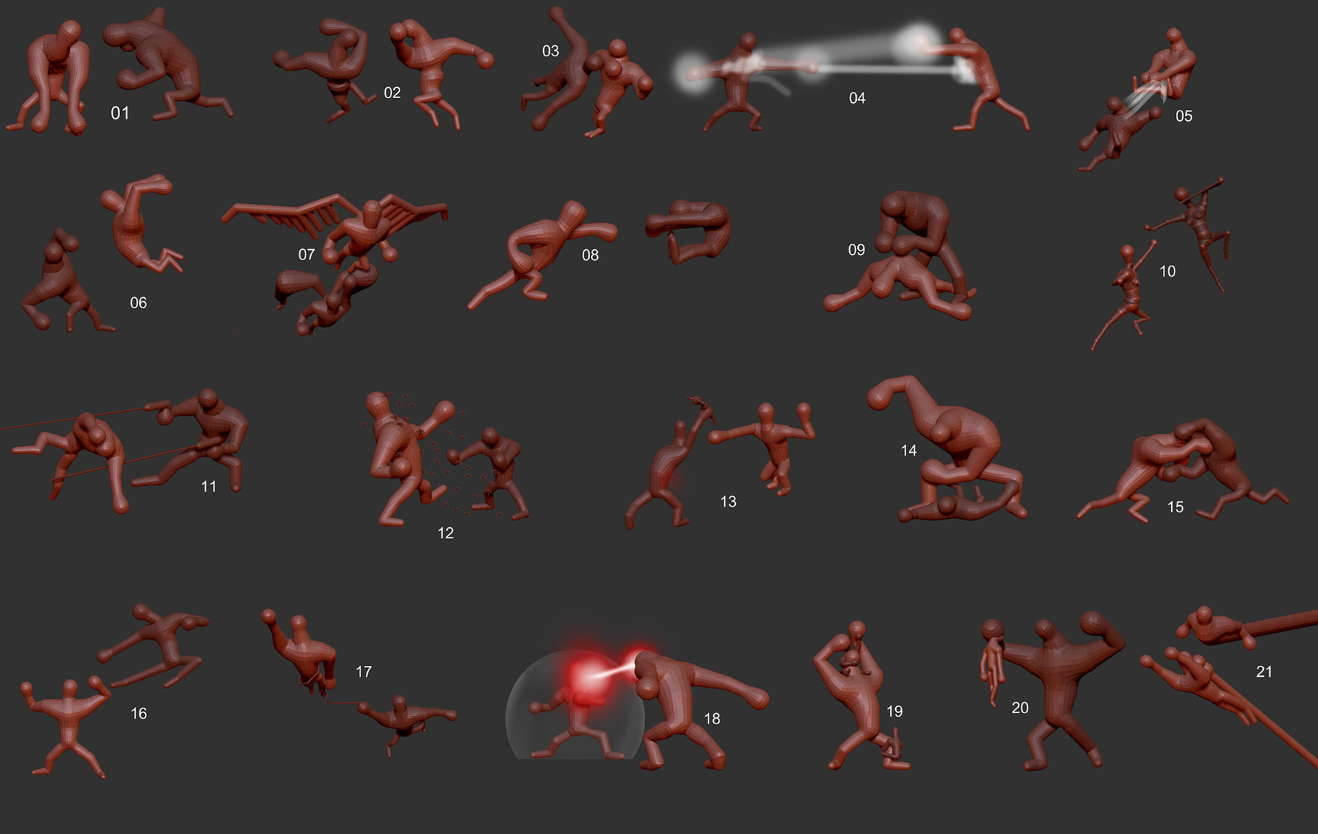 Fights Concept Poses
