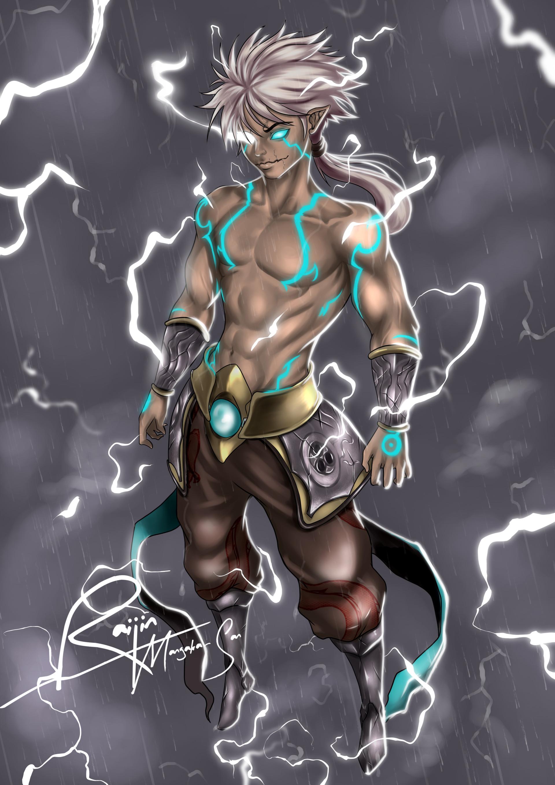Raijin Art Raijin Thunder God He is the god of thunder and lightning in japanese mythology. raijin art raijin thunder god
