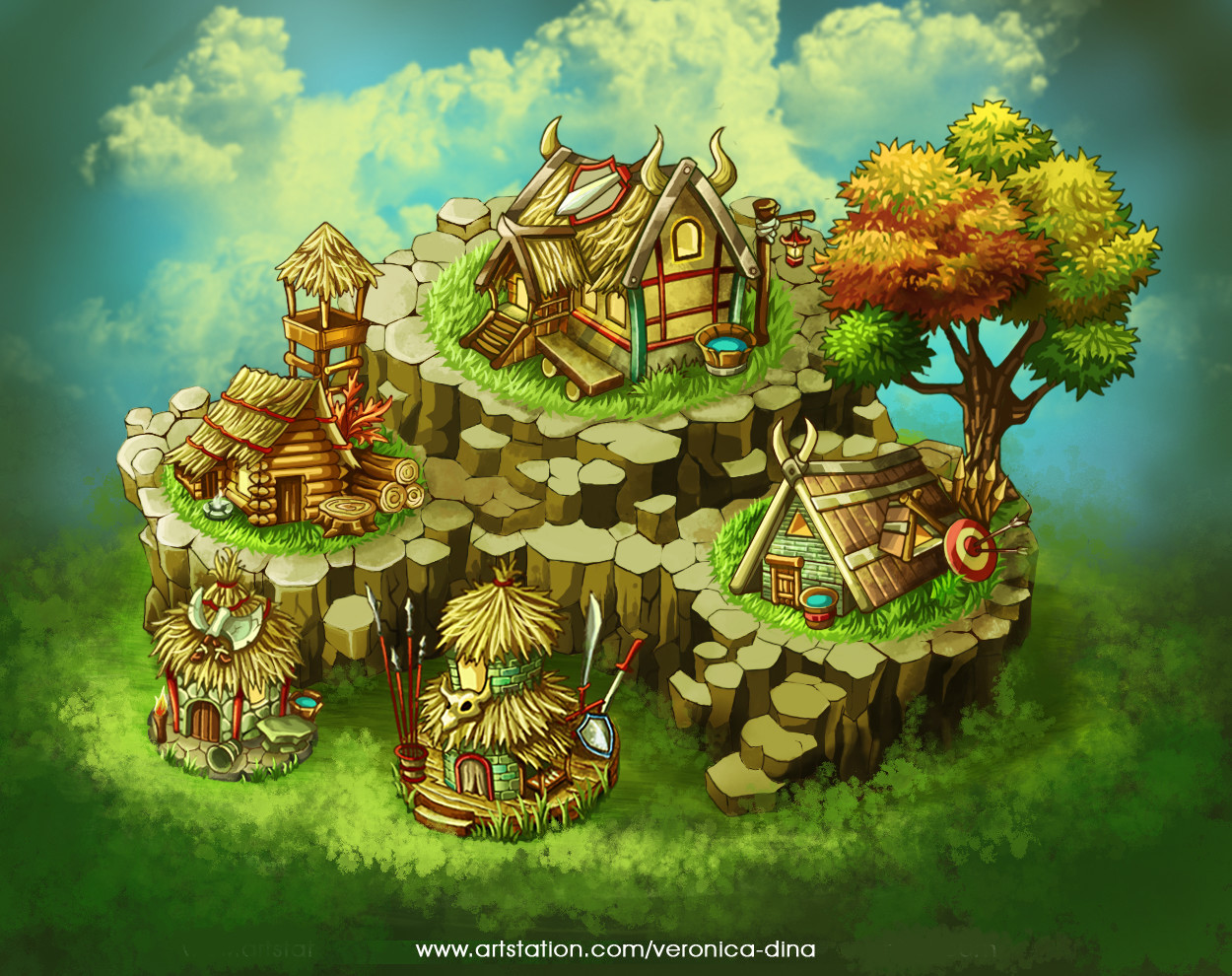 armor gameart map viking village weapon