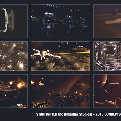 James ledger starfighter concepts