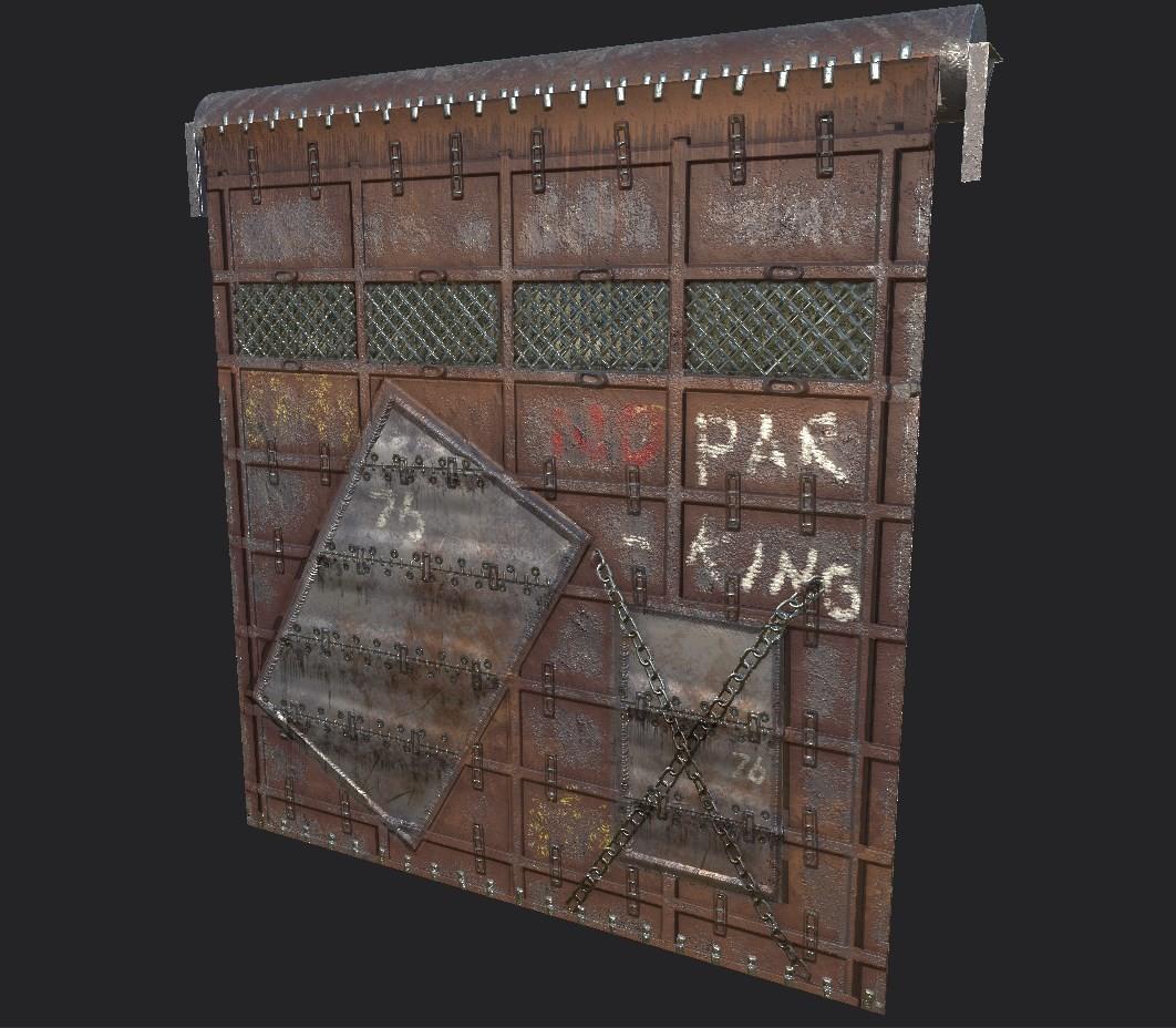 Rust Skin  Garage Door & ArtStation - Rust Skin: Reinforced Old Garage Door Милош Баскић