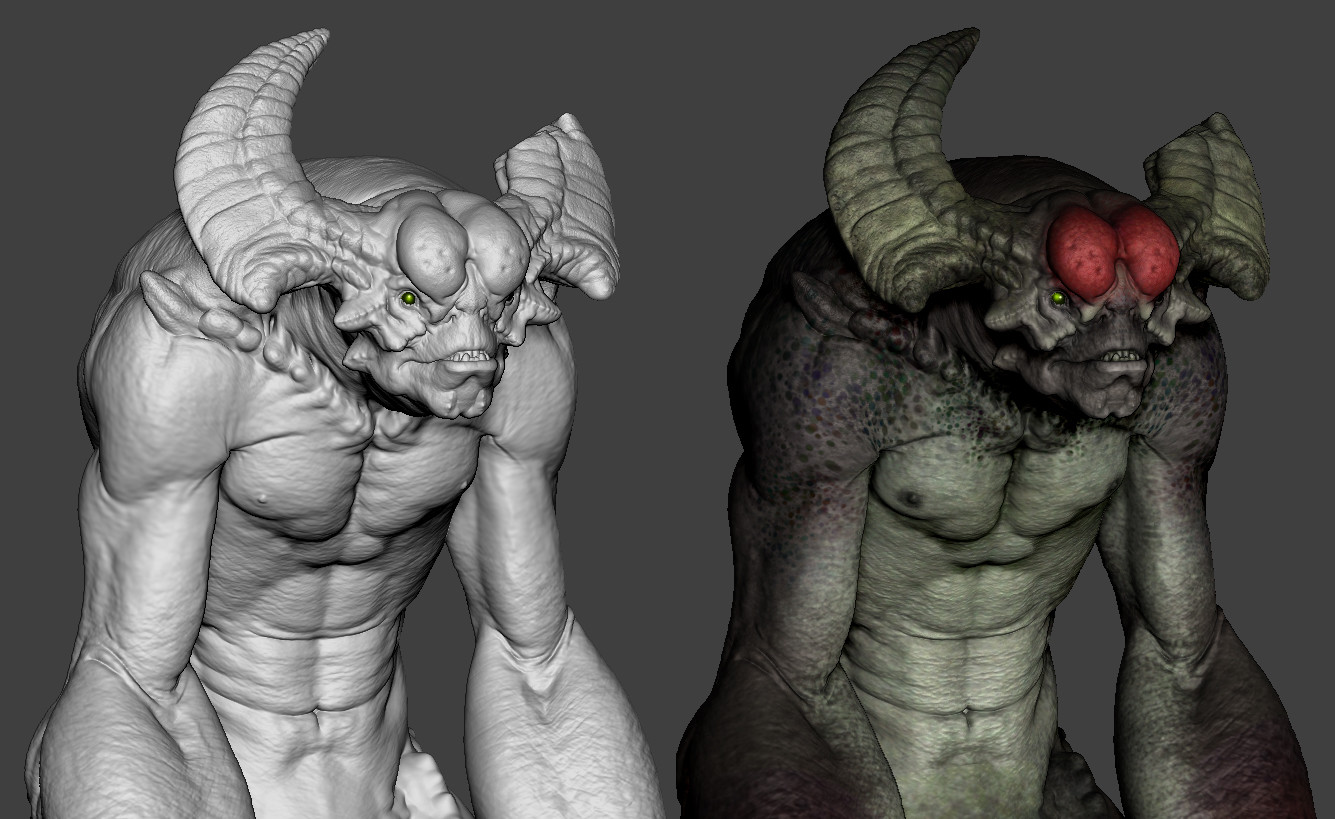 Next is Polypaint and posing  our creatures as we finish sculpting as needed. (Class 5)