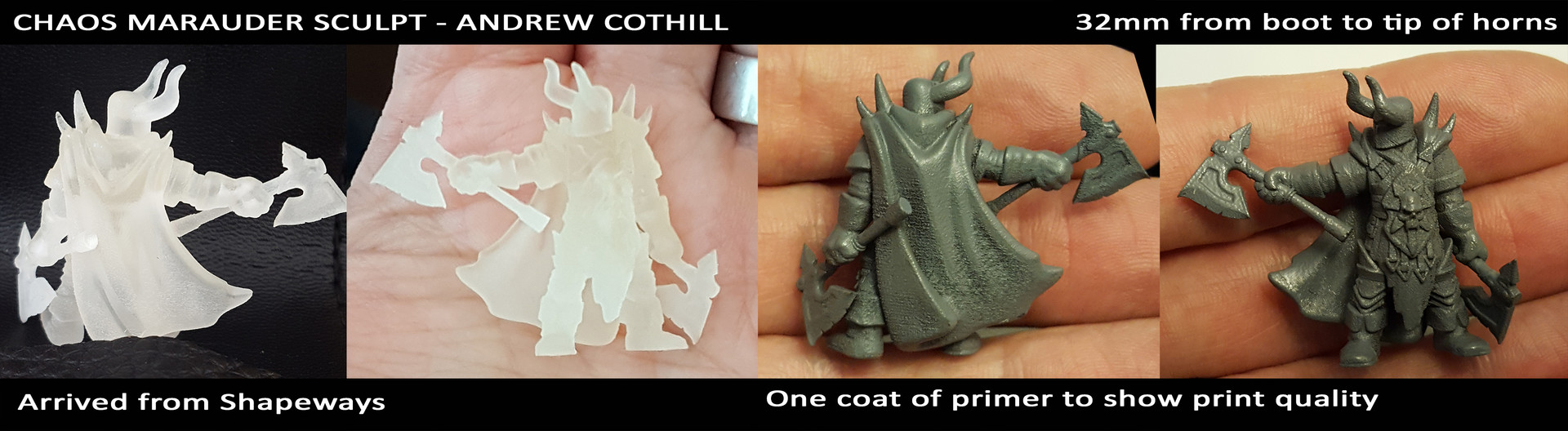 3D Print from Shapeways - Frosted Extreme Detail Material