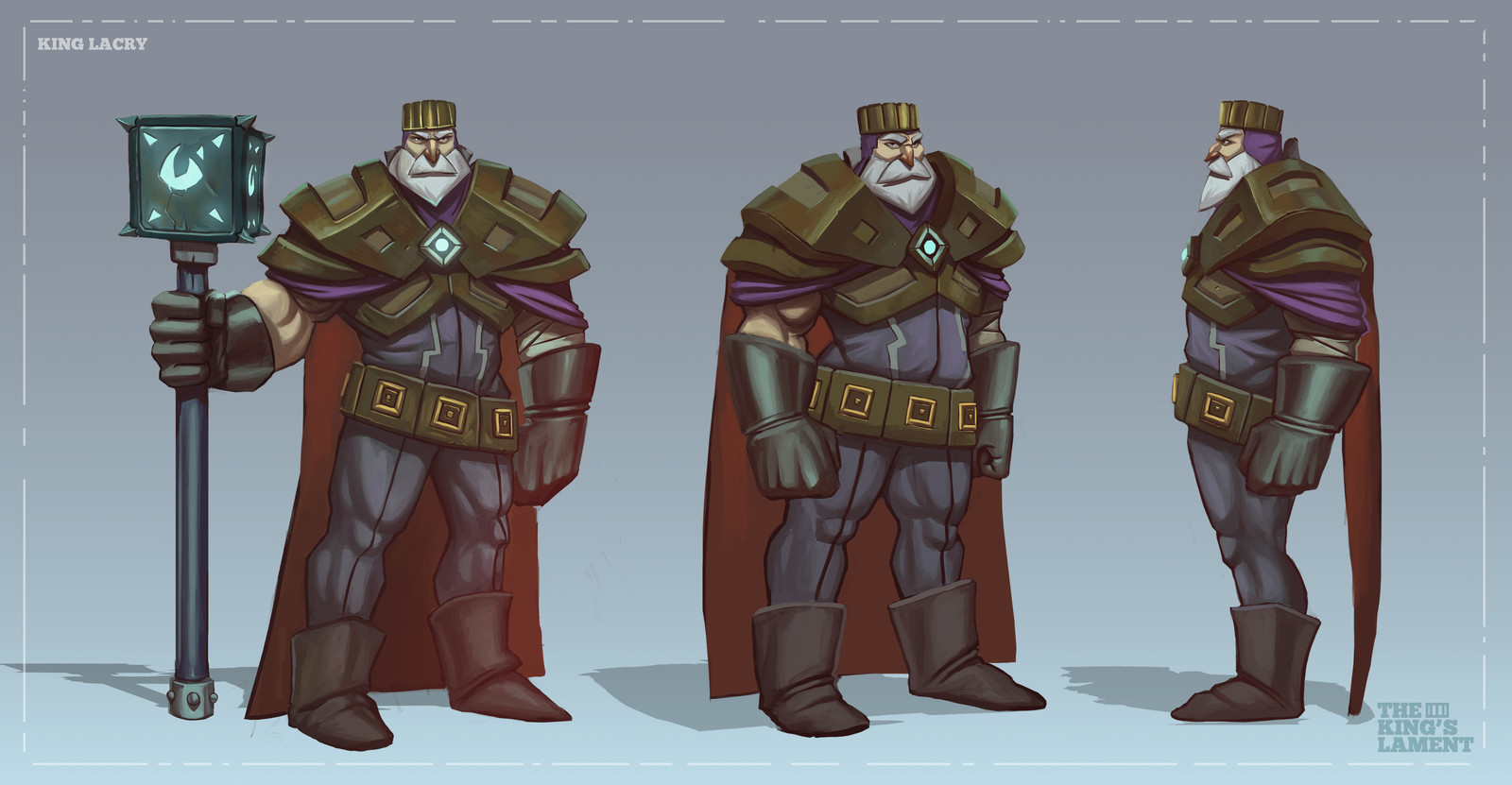 KING LACRY - CHARACTER DESIGN