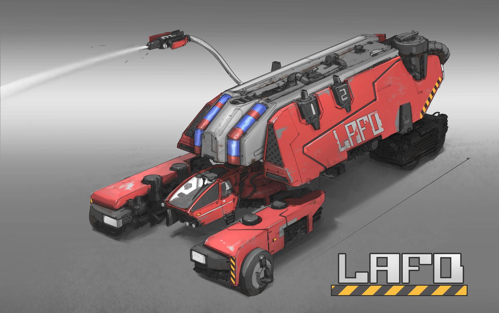 Cyber Punk - Fire Truck