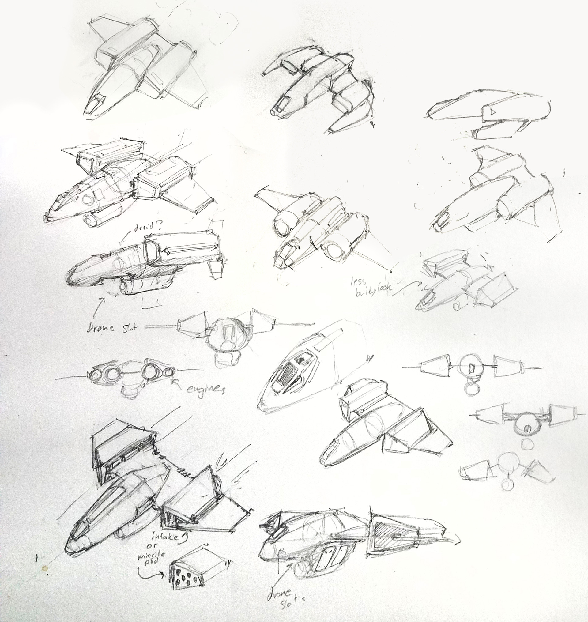 Eric geusz fighter sketches 1