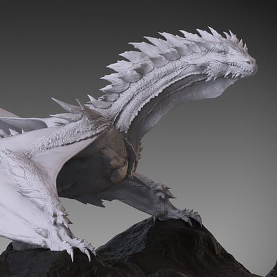 Jia hao 2017 spikydragon digitalsculpting 01