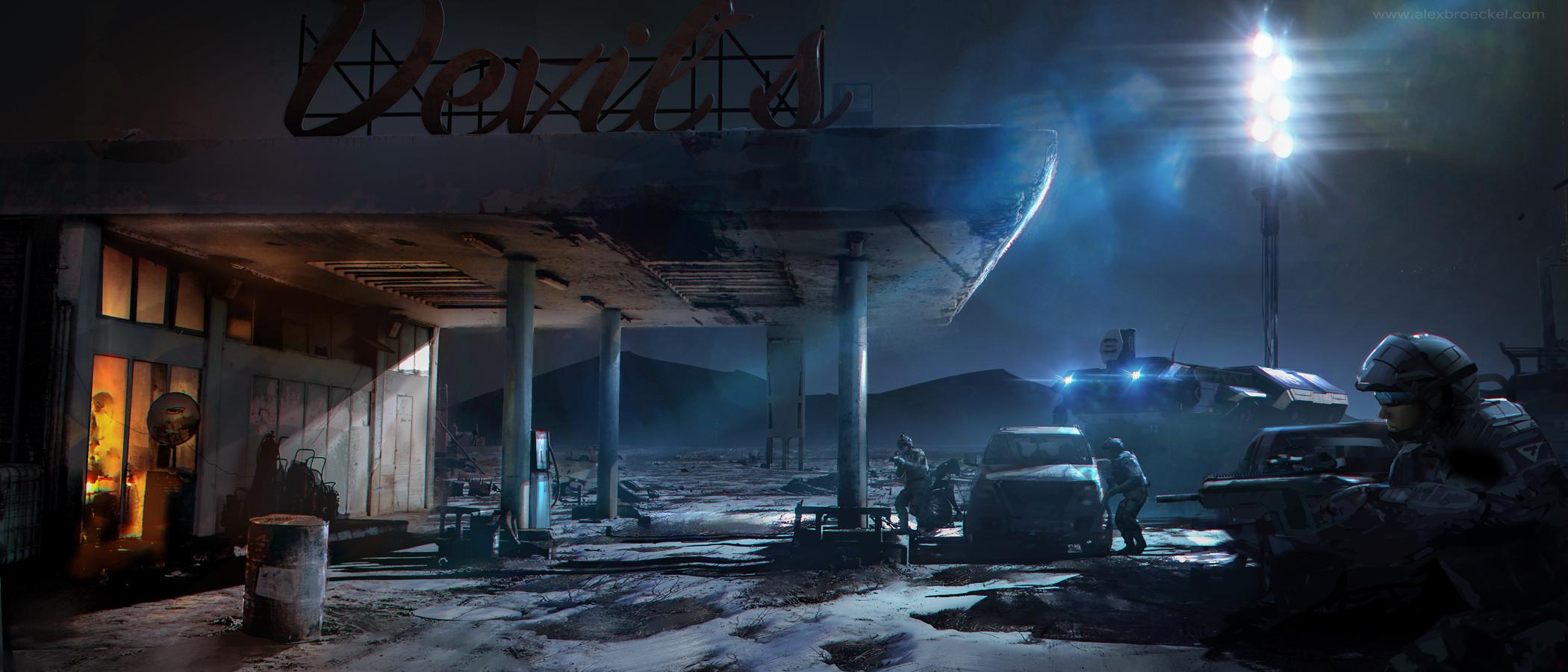 abandoned gast station