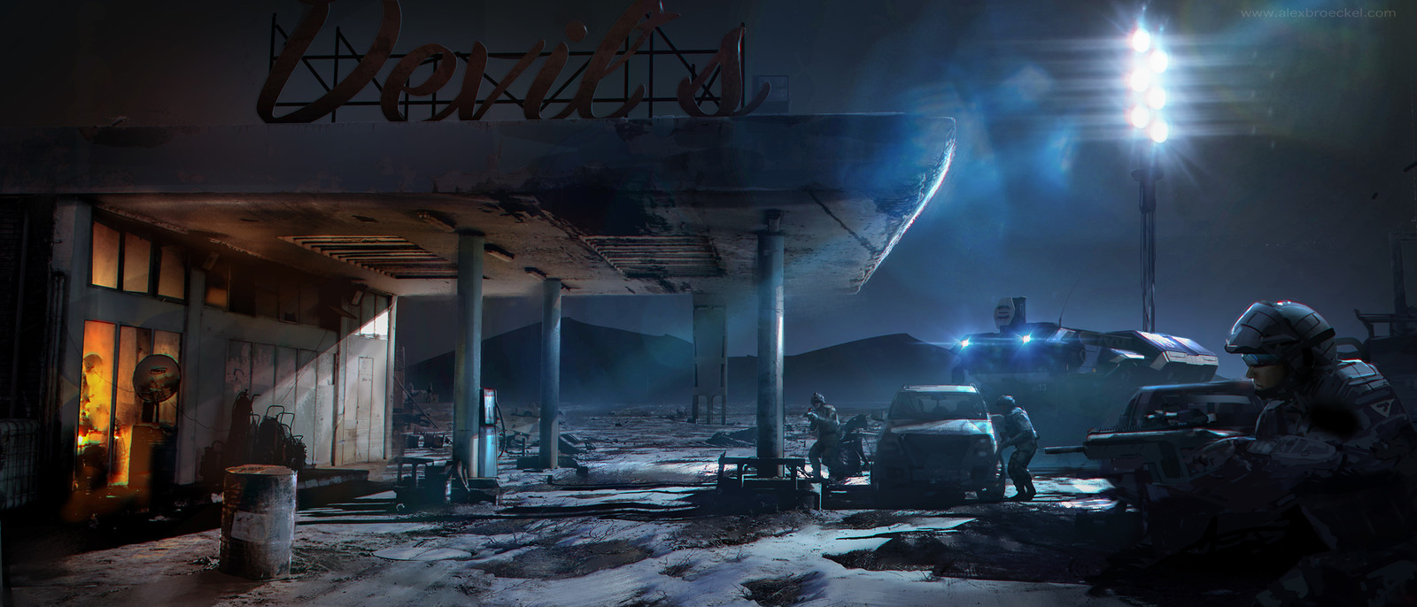 GAS STATION  Concept Art