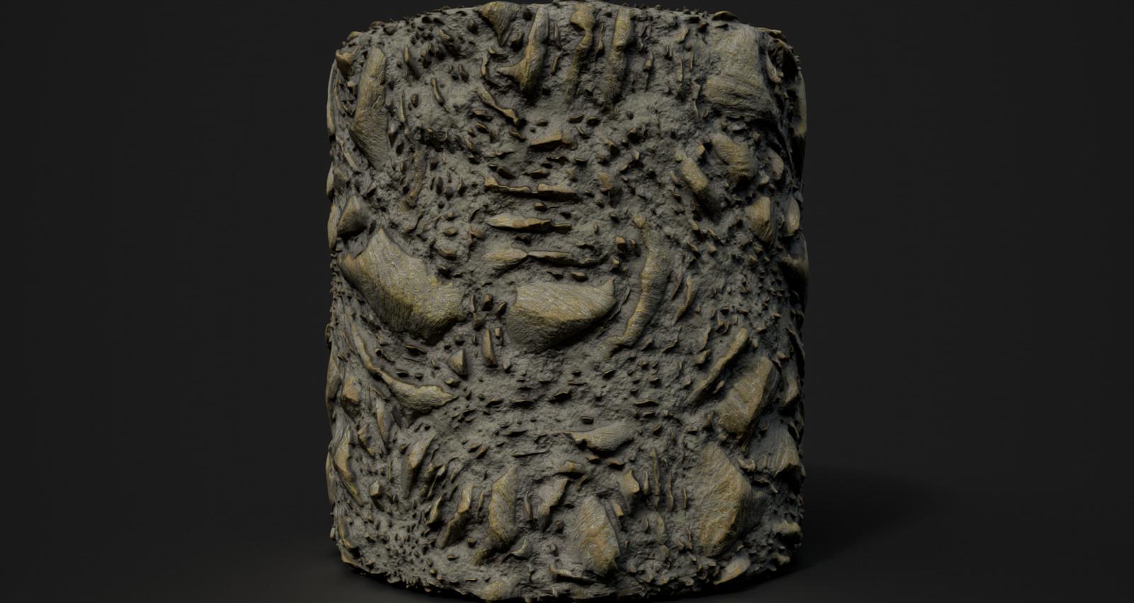 Venus rock/terrain doodle.