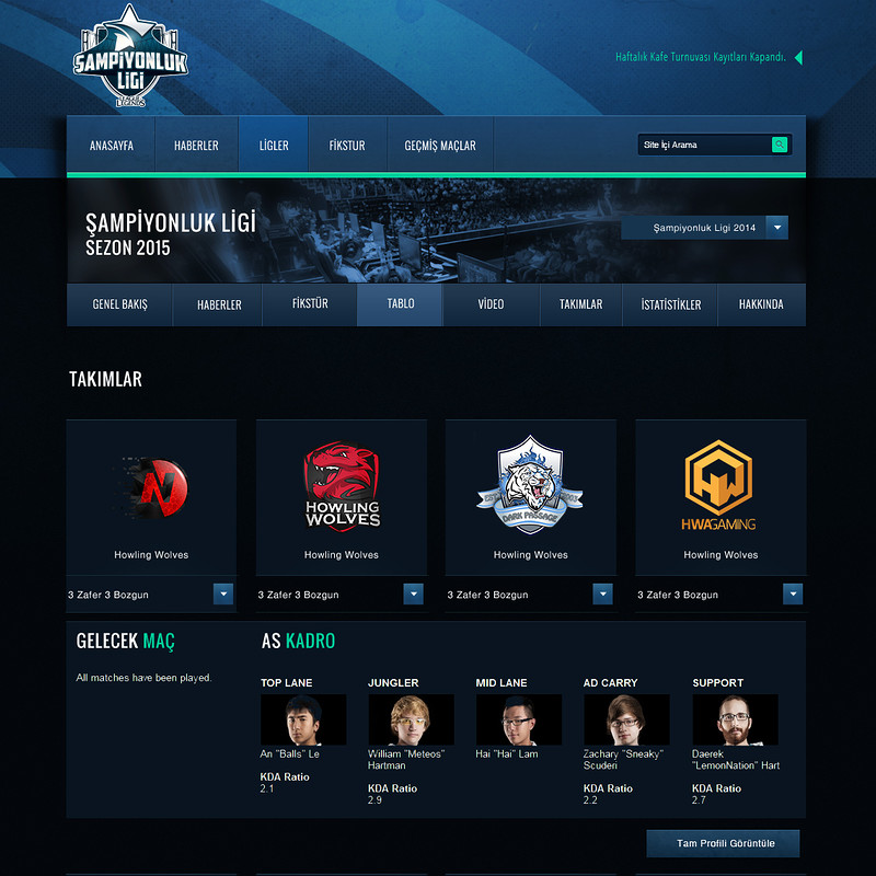 LoL eSport Website