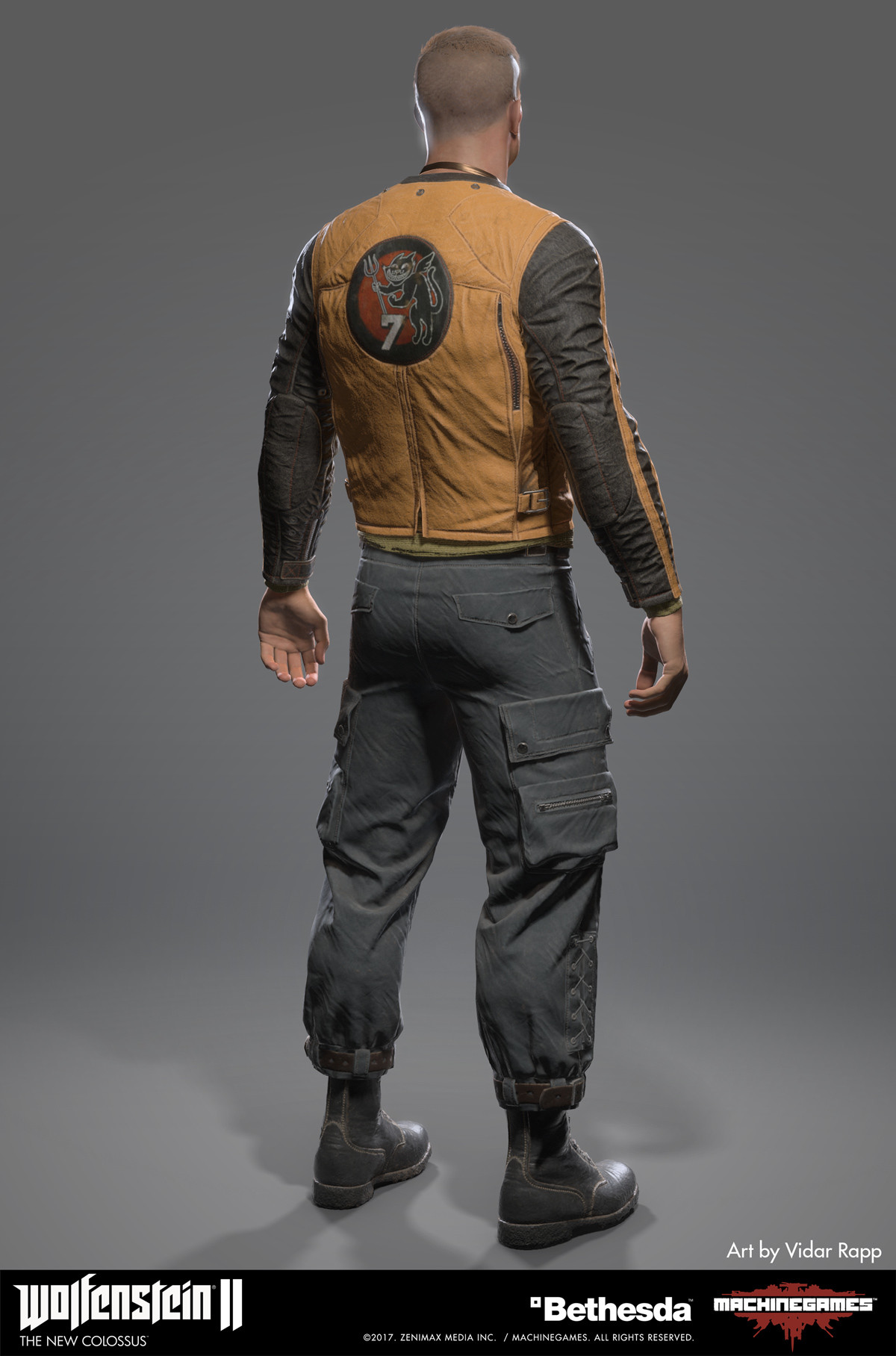 Vidar rapp blazkowicz new jacket back