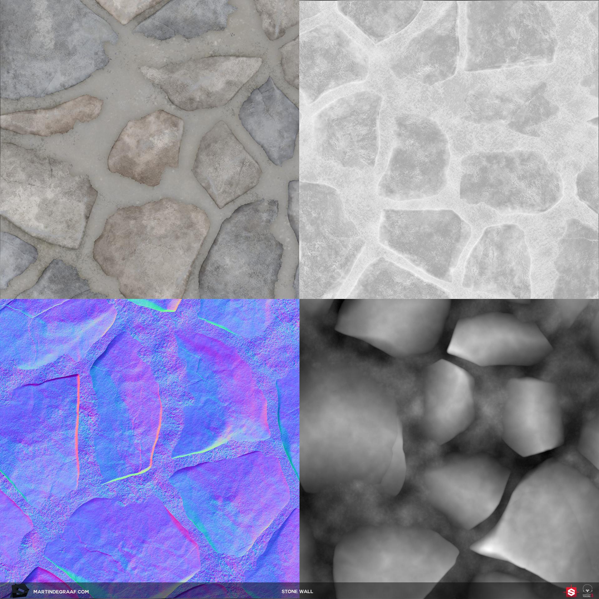 Martin de graaf stone wall substance texturesheet martin de graaf 2017