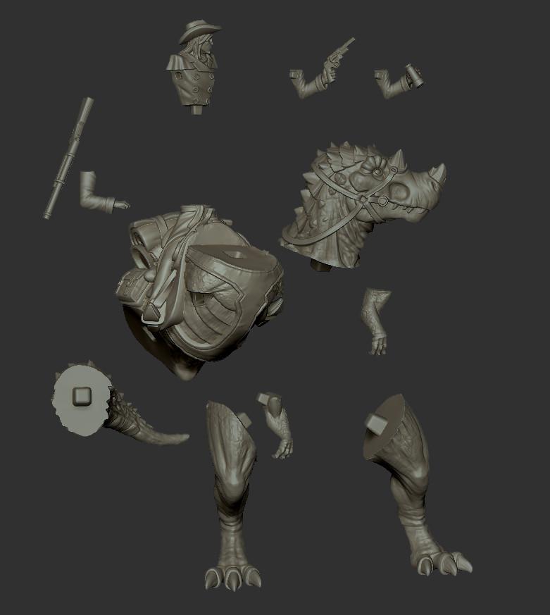 Jamie phipps dinorider render parts