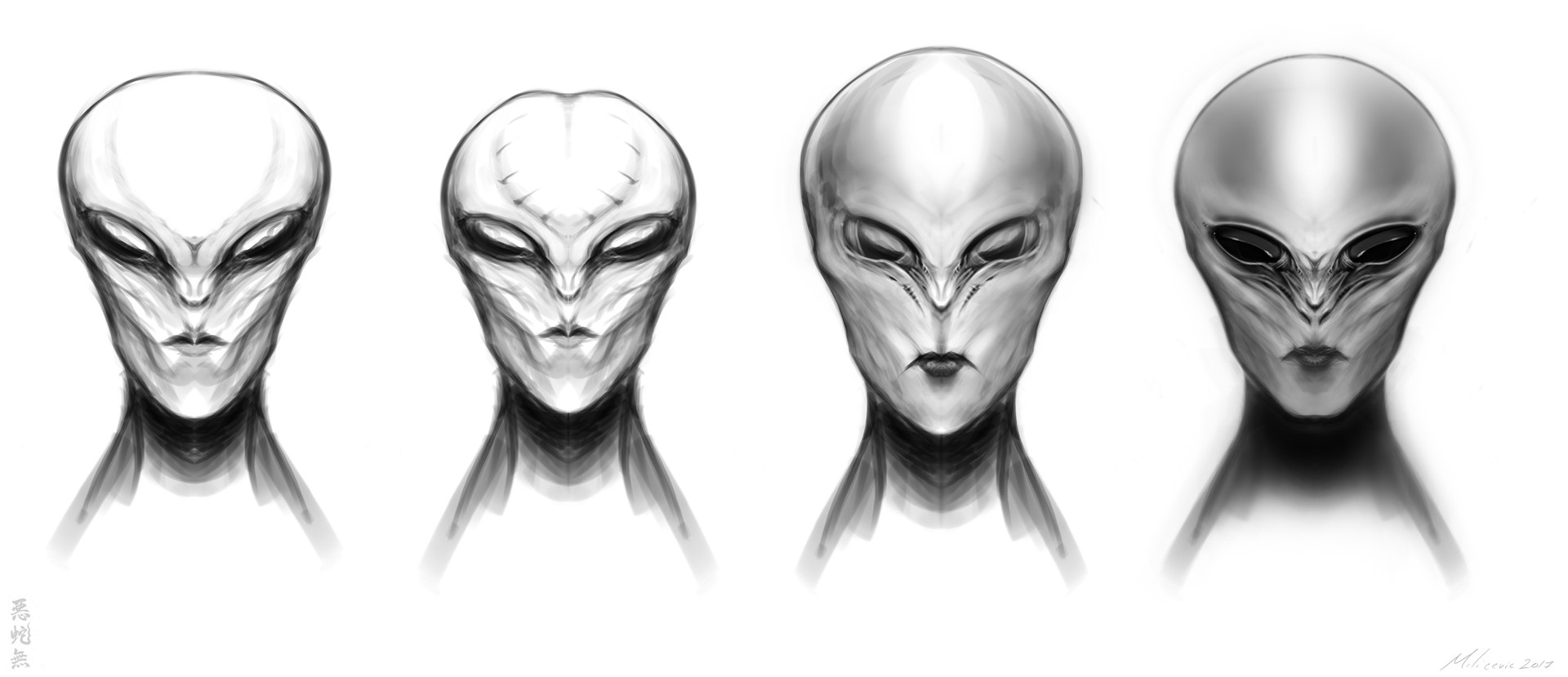 Adam milicevic alien sketches