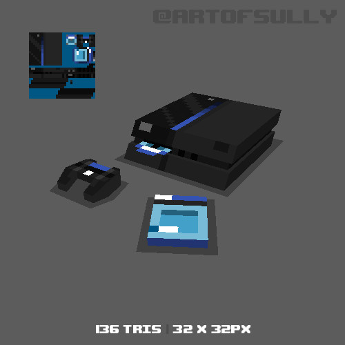 3D Pixel-Art PS4