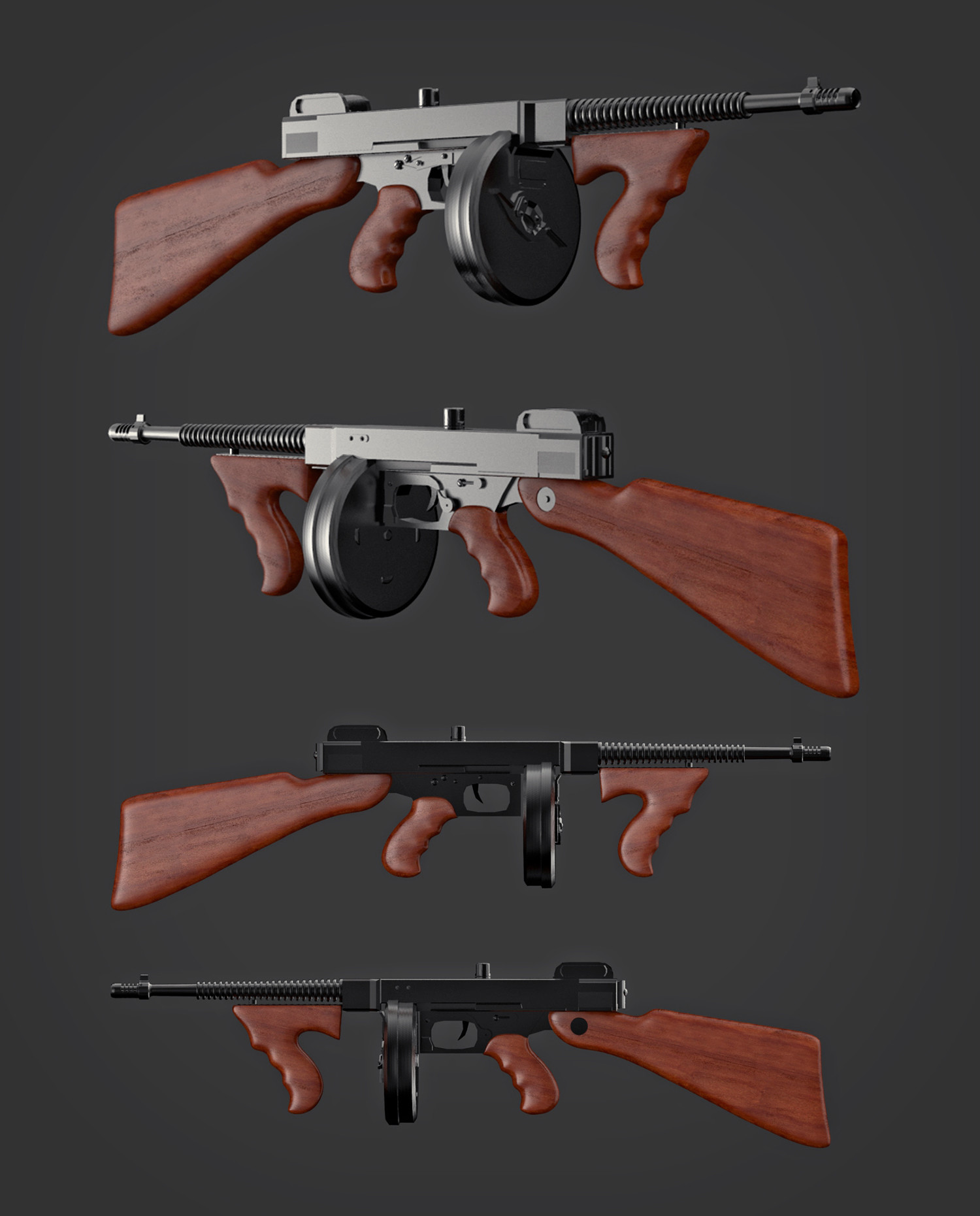 Tomislav zvonaric thompson gun model preview
