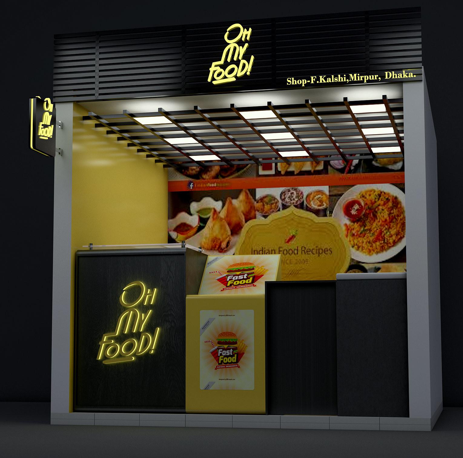 Artstation Oh My Food Interior Design Arafatul Islam Shakkhor
