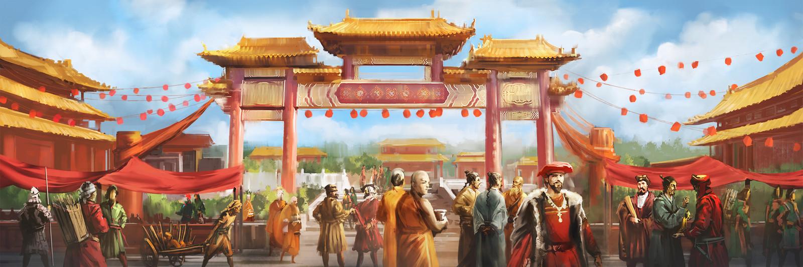 China turns open