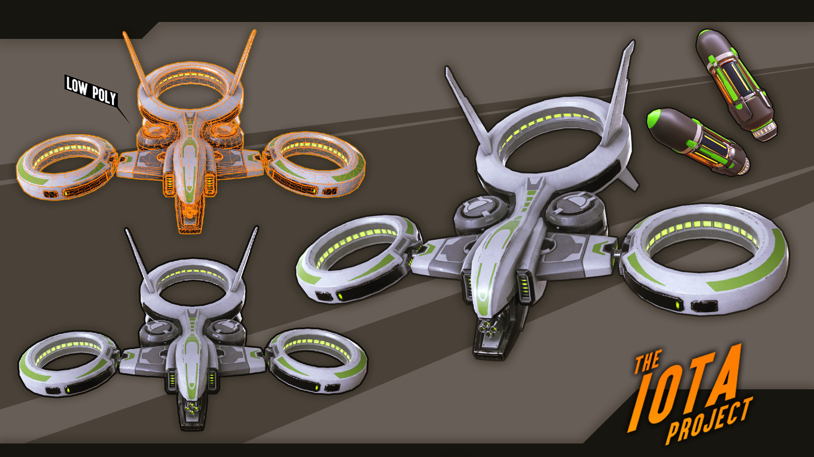 The drone enemy type that I modeled and animated. Final texture pass by Brenton Goodwin.