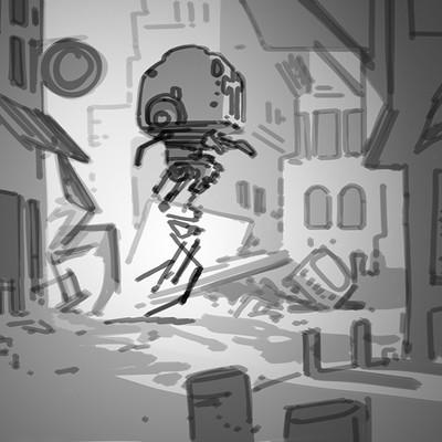 Dermot walshe alien robot alley