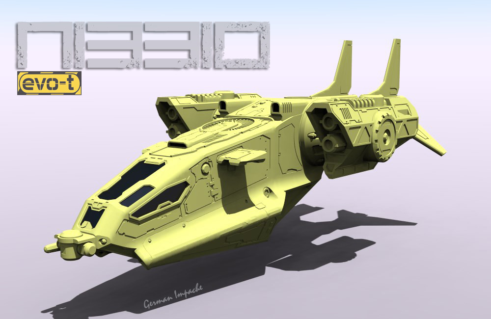"""NIBBIO"" dropship Work in progress"