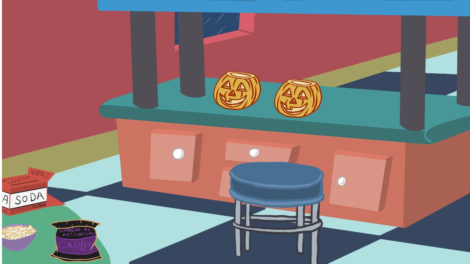ArtStation - Jerk-O-Lantern Kitchen Background, Matt Stevanus